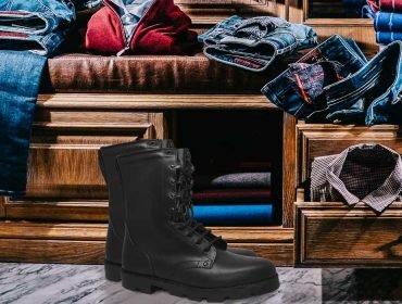 A la moda le gusta la bota militar