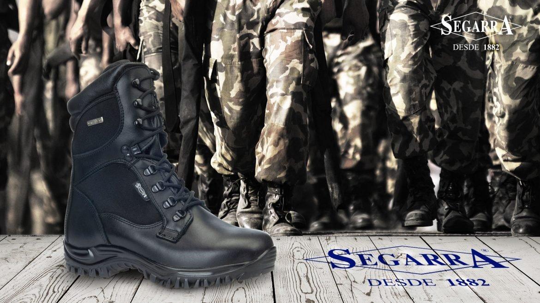 La seguridad del militar, el calzado